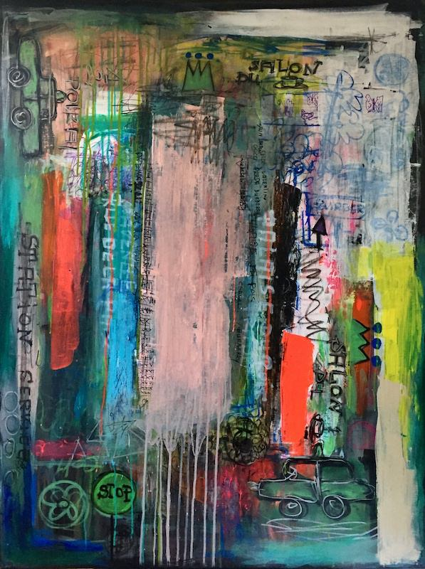 avenue - acrylic painting on canvas - 97 cm x 130 cm