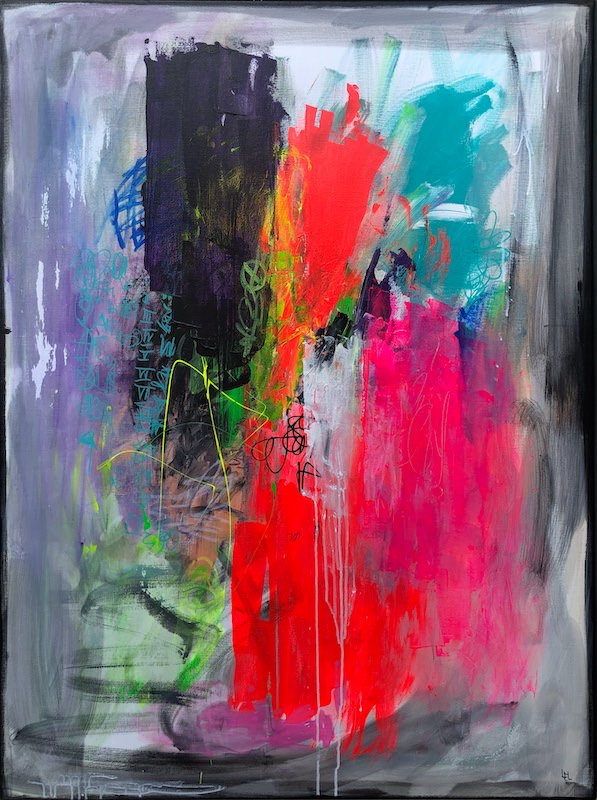 Hollow - acrylic painting on canvas - 97 cm x 130 cm - Marzena Lavrilleux - artist painter in Orleans - France
